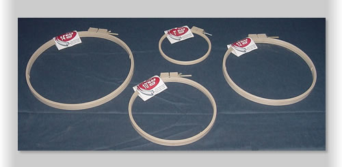 Hoops in a variety of sizes